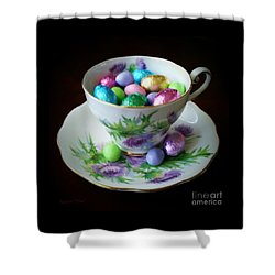 Easter Teacup Shower Curtain
