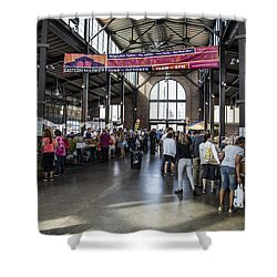 Eastern Market Detroit Saturday  Shower Curtain by John McGraw