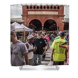 Eastern Market Summer Detroit  Shower Curtain