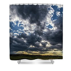 Eastern Montana Sky Shower Curtain by Shevin Childers