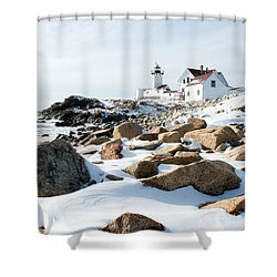 Eastern Point Light II Shower Curtain