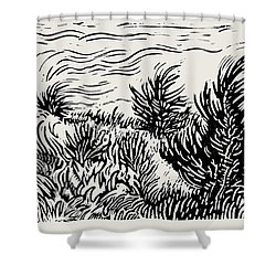 Eastern Red Cedar Shower Curtain