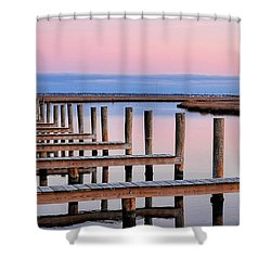 Eastern Shore On The Docks Shower Curtain