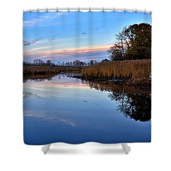 Eastern Shore Sunset - Blackwater National Wildlife Refuge Shower Curtain by Brendan Reals