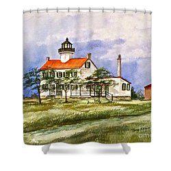 East Point Lighthouse Glory Days  Shower Curtain