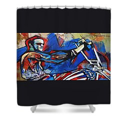 Easy Rider Captain America Shower Curtain by Eric Dee