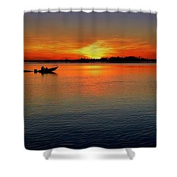 Easy Sunday Sunset Shower Curtain