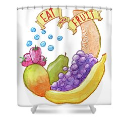 Eat More Fruit Shower Curtain