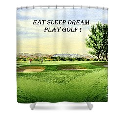 Eat Sleep Dream Play Golf - Carnoustie Golf Course Shower Curtain by Bill Holkham