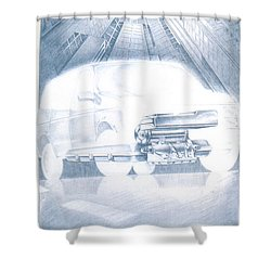 Eaton Electric Van Shower Curtain