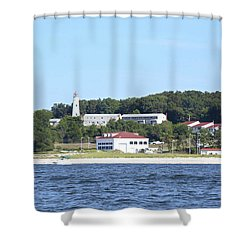 Eatons Neck Lighthouse Shower Curtain