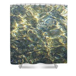 Shower Curtain featuring the photograph Eaux Du Lac by Marc Philippe Joly