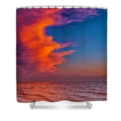 Shower Curtain featuring the photograph Evening Fishing On The Beach by Nick Zelinsky