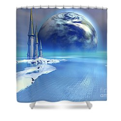 Ebb And Flow Shower Curtain by Corey Ford