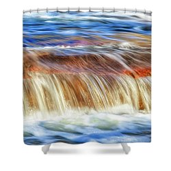 Ebb And Flow, Noble Falls Shower Curtain