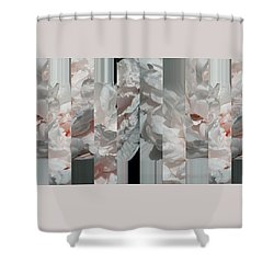 Ebony And Ivory Pink Blush Peony - Floral Abstract Shower Curtain