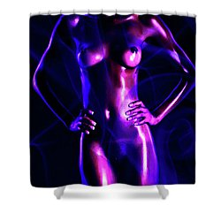 Shower Curtain featuring the painting Ebony2 by Tbone Oliver
