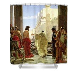Ecce Homo Shower Curtain by Antonio Ciseri