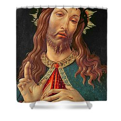 Ecce Homo Or The Redeemer Shower Curtain by Botticelli