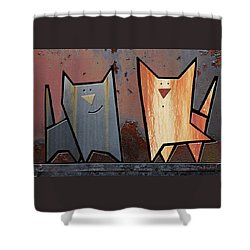 Eccentric Shower Curtain