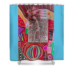 Shower Curtain featuring the painting Echinacea Herbal Tincture by Clarity Artists