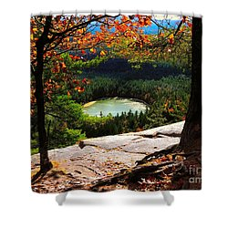 Echo Lake, New Hampshire Shower Curtain