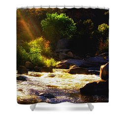 Echo Remains  Shower Curtain