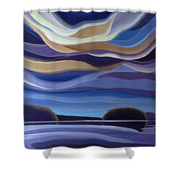 Echos Shower Curtain