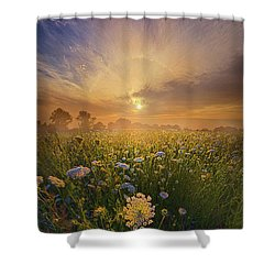 Echos The Sound Of Silence Shower Curtain by Phil Koch