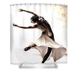 Eclectic Dancer Shower Curtain by Richard Young