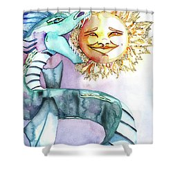 Eclipse Dragon Sun Eater Shower Curtain