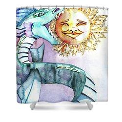 Eclipse Dragon Sun Eater Shower Curtain