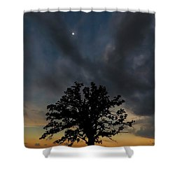 Eclipse Sunset Shower Curtain