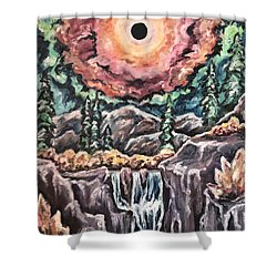 Eclipse- When The Sun Goes Dark Shower Curtain by Cheryl Pettigrew