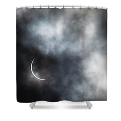 Eclipsed Crescent II Shower Curtain