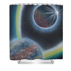 Eclipsing Shower Curtain
