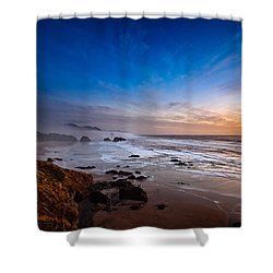 Ecola State Park At Sunset Shower Curtain