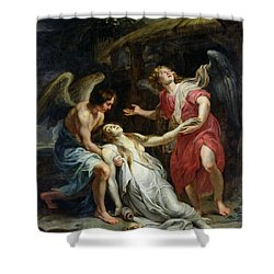Ecstasy Of Mary Magdalene Shower Curtain by Peter Paul Rubens