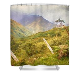 Ecuadorian Mountain Forest Shower Curtain