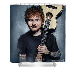 Ed Sheeran Shower Curtain