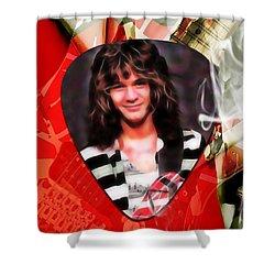 Eddie Van Halen Art Shower Curtain by Marvin Blaine