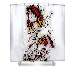 Eddie Van Halen Everybody Want's Some Lyrics Shower Curtain