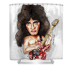 Eddie Van Halen Shower Curtain by Gary Bodnar