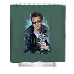 Eddie Van Halen Shower Curtain by Melanie D