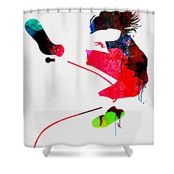 Eddie Watercolor Shower Curtain