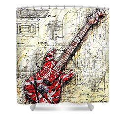 Eddie's Guitar 3 Shower Curtain by Gary Bodnar