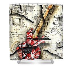 Eddie's Guitar Shower Curtain