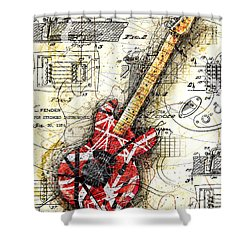 Eddie's Guitar II Shower Curtain by Gary Bodnar