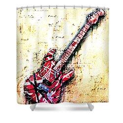 Eddie's Guitar Variation 07 Shower Curtain by Gary Bodnar