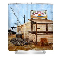 Eddies On The Creek Belford Nj Shower Curtain